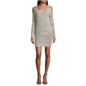 My Michelle cold shoulder sweater dress